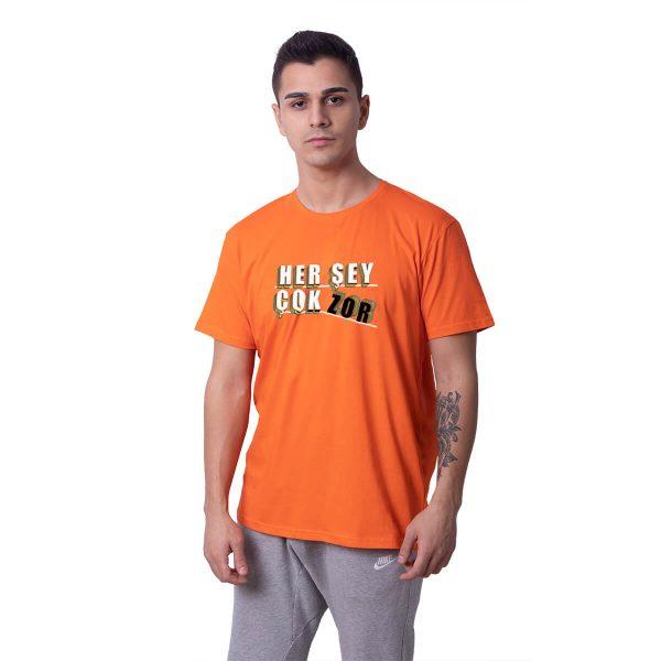 Her Şey Çok Zor Baskılı Regular Unisex Tişört