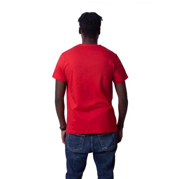 Kırmızı Düz Renk Basic Regular Unisex Tişört
