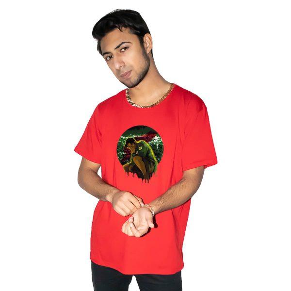 Yiğit Alp Çavdar Gece Avcısı Yeşil Baskılı Regular Unisex Tişört