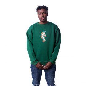Balerin Baskılı Oversize Unisex Sweatshirt