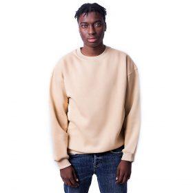 Bej Renk Oversize Unisex Sweatshirt