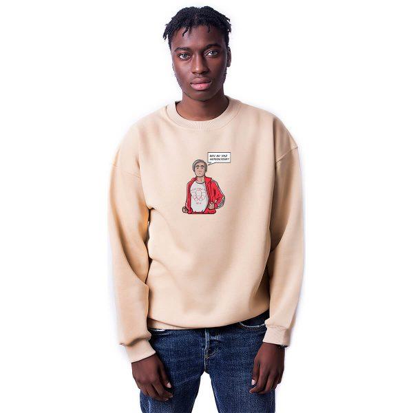 Bu Yaz Neredeydim Baskılı Oversize Unisex Sweatshirt