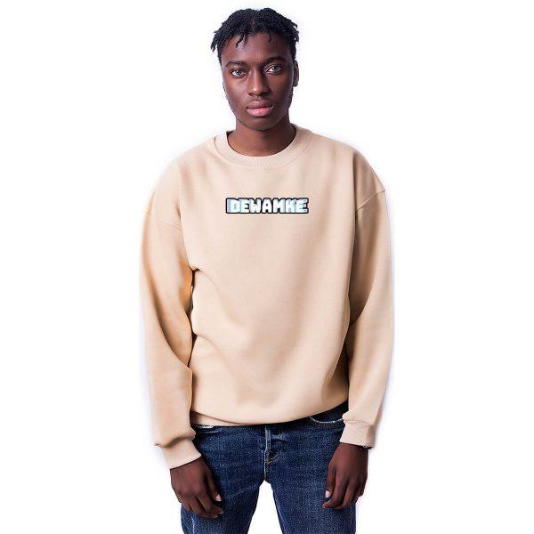 Dewamke Baskılı Oversize Unisex Sweatshirt