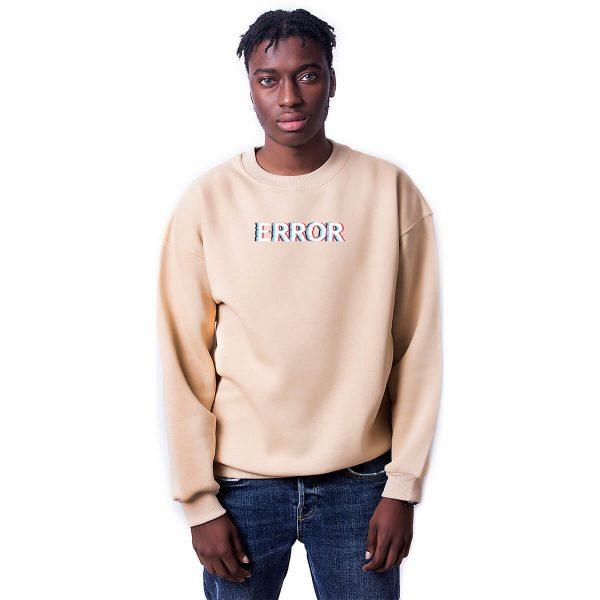 Error Baskılı Oversize Unisex Sweatshirt