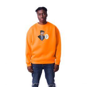 Faka Basmaza Baskılı Oversize Unisex Sweatshirt