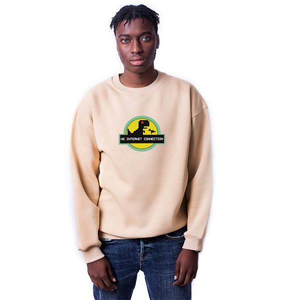 No Internet Connection Baskılı Oversize Unisex Sweatshirt