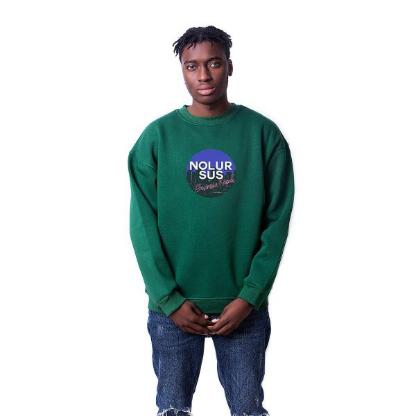 Nolur Sus Baskılı Oversize Unisex Sweatshirt