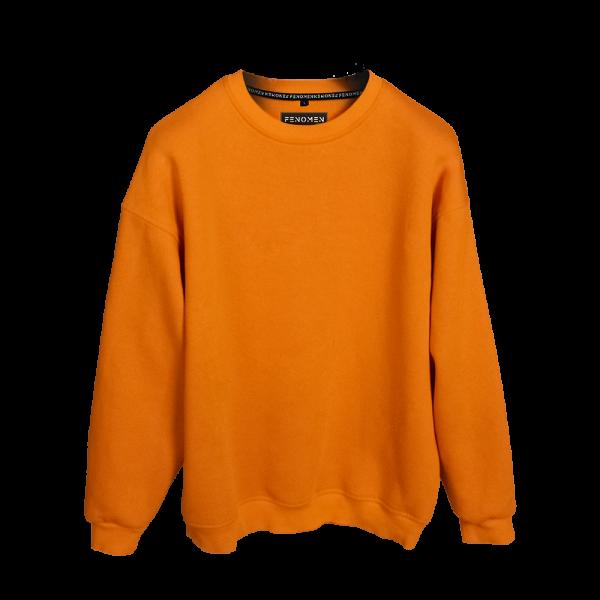 Turuncu Renk Oversize Unisex Sweatshirt