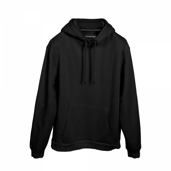 Siyah Renk Oversize Unisex Hoodie