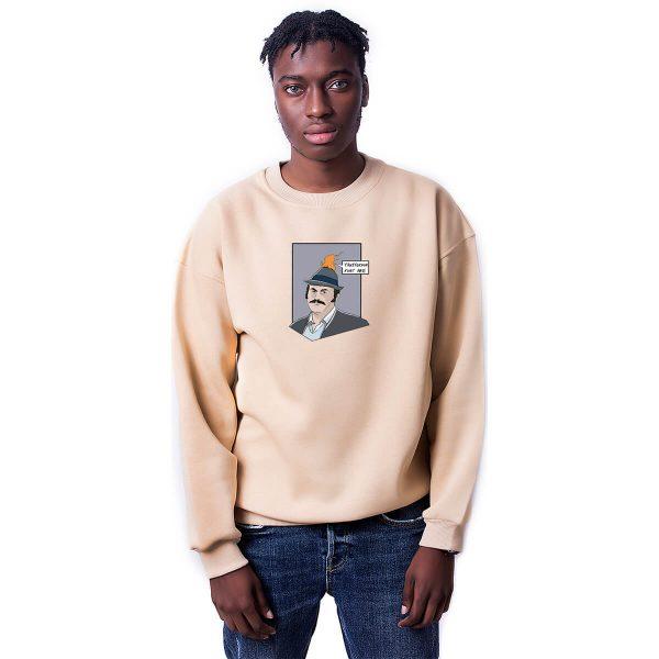 Yanıyorsun Fuat Abi Baskılı Oversize Unisex Sweatshirt