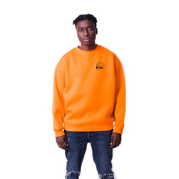 Yumruk Baskılı Oversize Unisex Sweatshirt