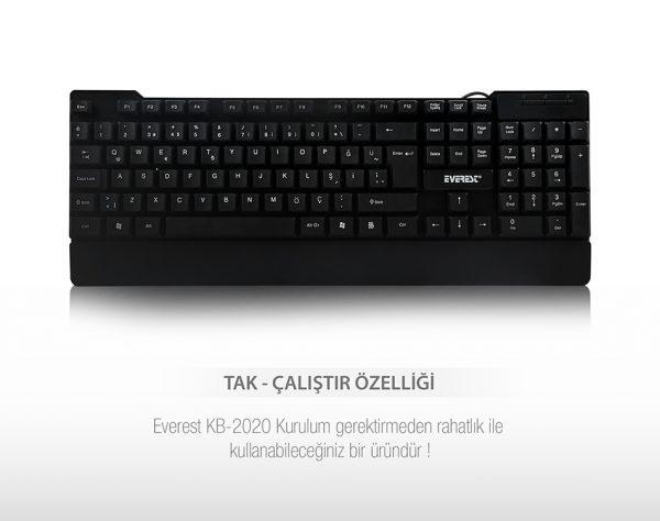 Everest KB-2020 USB Q Standart Klavye
