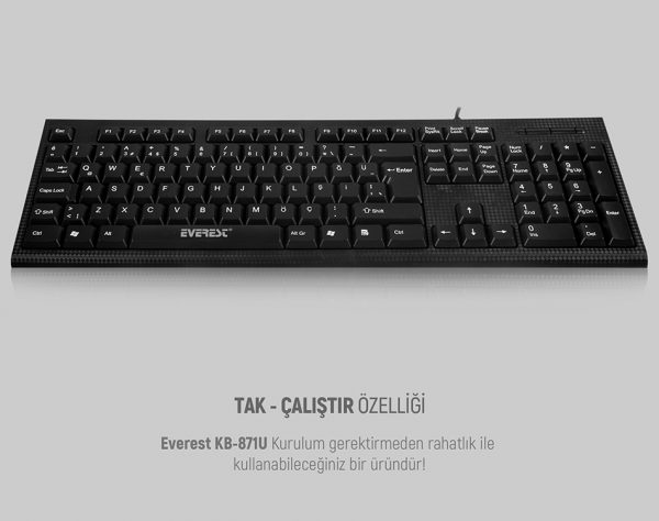 Everest KB-871U Q USB Kablolu Klavye