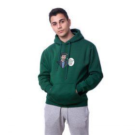 Faka Basmaza Baskılı Yeşil Oversize Hoodie HDFN0106YSL