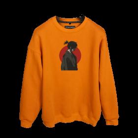Göksel Kırca Yato Samuray Baskılı Oversize Unisex Sweatshirt