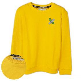 Bantlı Turşu Baskılı Çocuk Sweatshirt