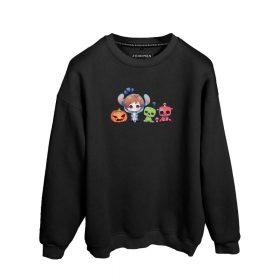 Erenay Bey Çizgi Dünya Baskılı Oversize Unisex Sweatshirt