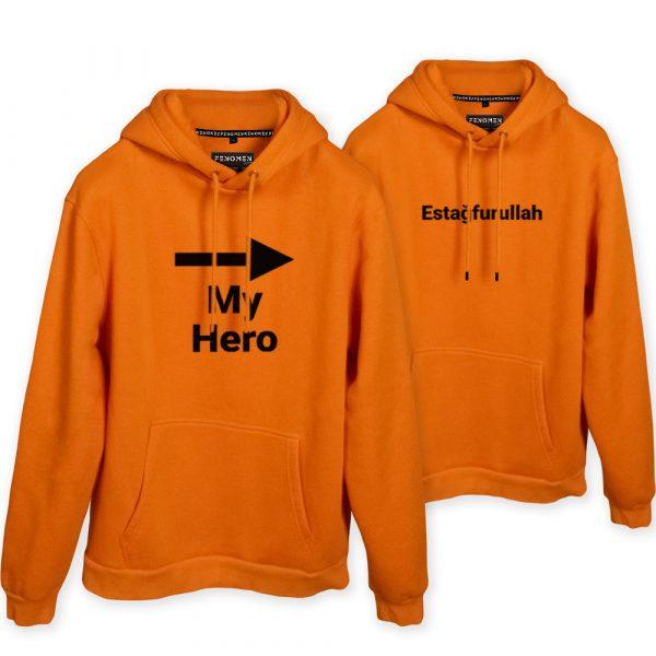 My Hero - Estağfurullah Baskılı Sevgili Hoodieleri