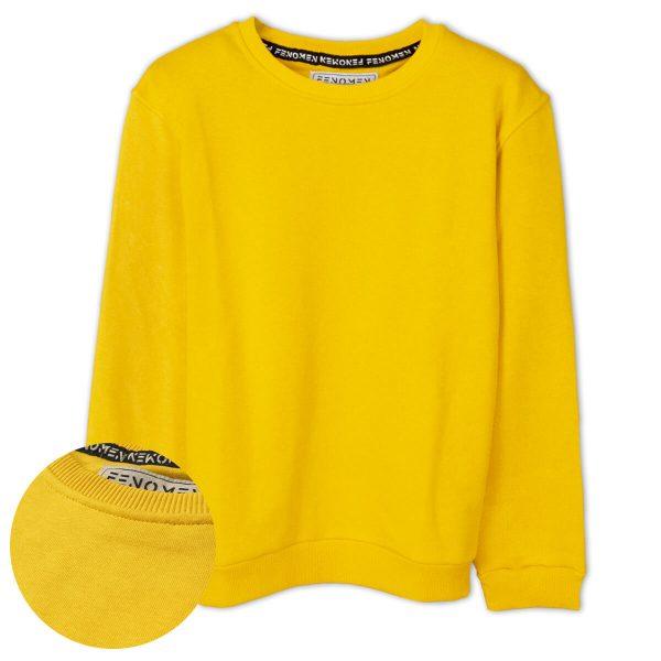 Sarı Düz Renk Çocuk Sweatshirt
