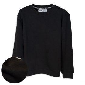 Siyah Düz Renk Çocuk Sweatshirt