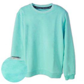 Turkuaz Düz Renk Çocuk Sweatshirt
