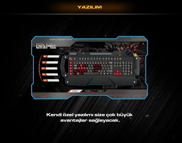 Everest DLK-5115 Siyah Usb Makrolu Gaming Q Multimedia Klavye