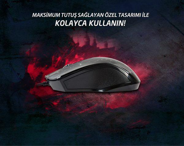 Everest SM-68X USB Siyah 7 Renk Aydınlatmalı Oyuncu Mouse