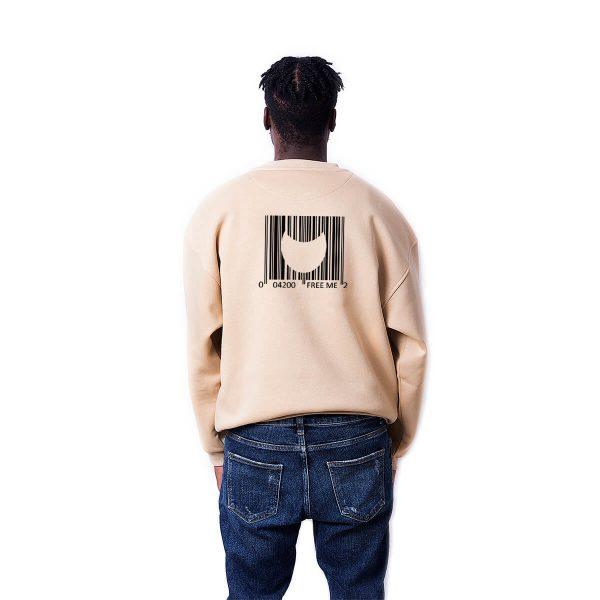 Porçay Free Me Baskılı Oversize Unisex Sweatshirt