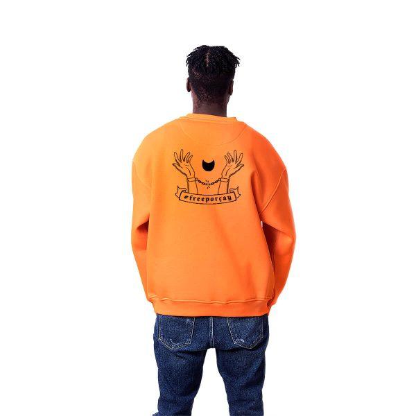 Porçay Free Porçay Baskılı Oversize Unisex Sweatshirt