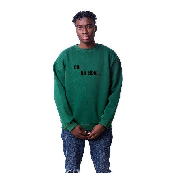 Porçay Ow Bu Ciddi Baskılı Oversize Unisex Sweatshirt