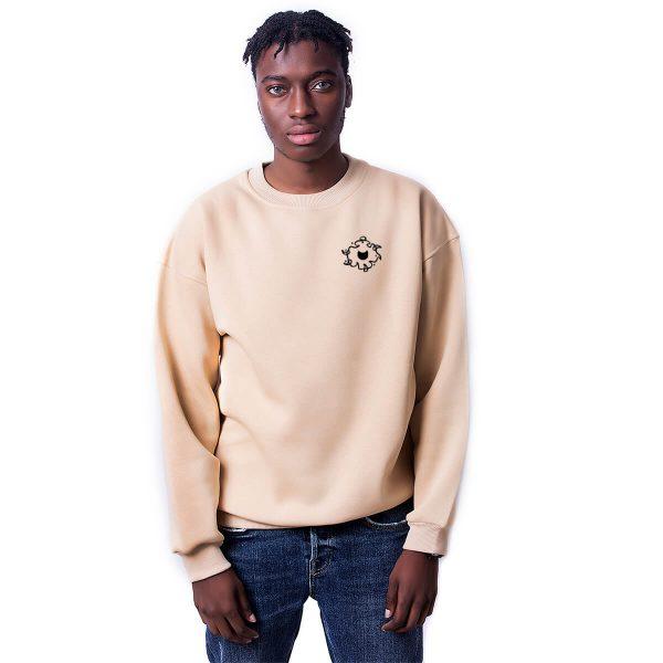 Porçay Özgürlük Baskılı Oversize Unisex Sweatshirt