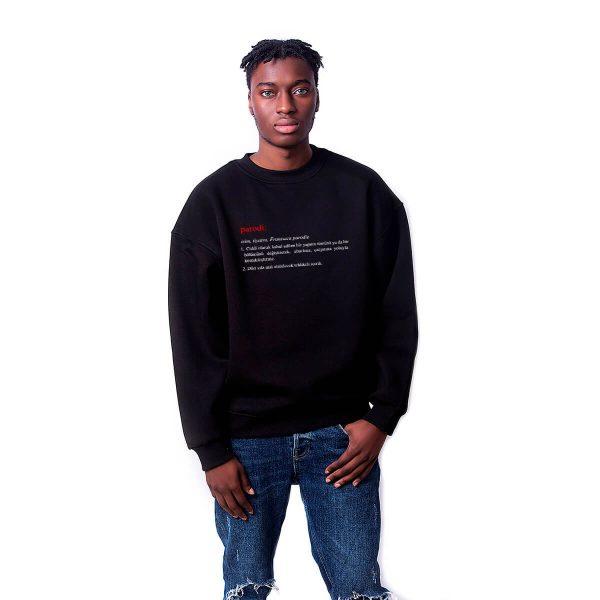 Porçay Parodi Baskılı Oversize Unisex Sweatshirt