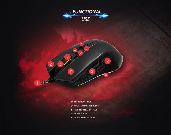 Rampage Smx R51 Flare Profesyonel Makrolu Gaming Mouse