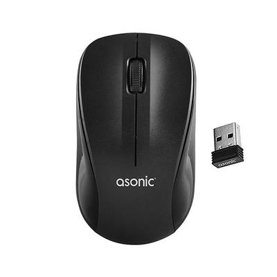 Asonic As-WM5 Usb Siyah Optik Kablosuz Mouse