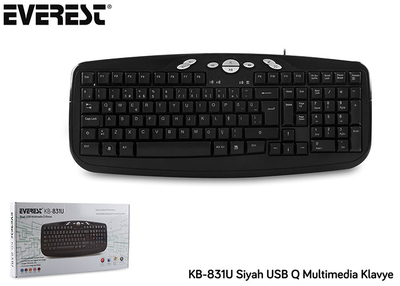 Everest KB-831U Multimedya USB Q Klavye