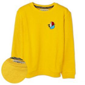 Batan Gemi TV Küçük Logo Baskılı Çocuk Sweatshirt
