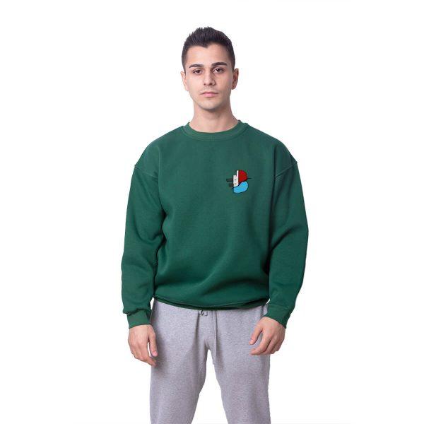 Batan Gemi TV Küçük Logo Baskılı Oversize Unisex Sweatshirt