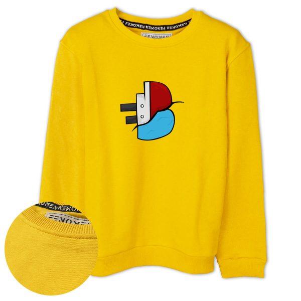 Batan Gemi TV Logo Baskılı Çocuk Sweatshirt