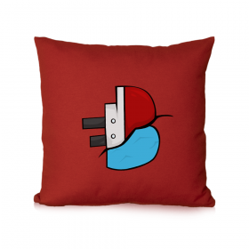 Batan Gemi TV Logo Baskılı Kırlent Yastık