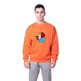 Batan Gemi TV Logo Baskılı Oversize Unisex Sweatshirt