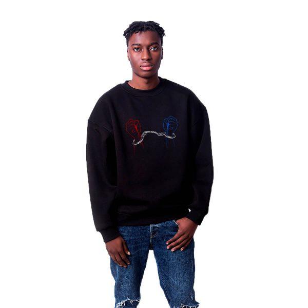 Batan Gemi TV Engelsizsiniz Baskılı Oversize Unisex Sweatshirt