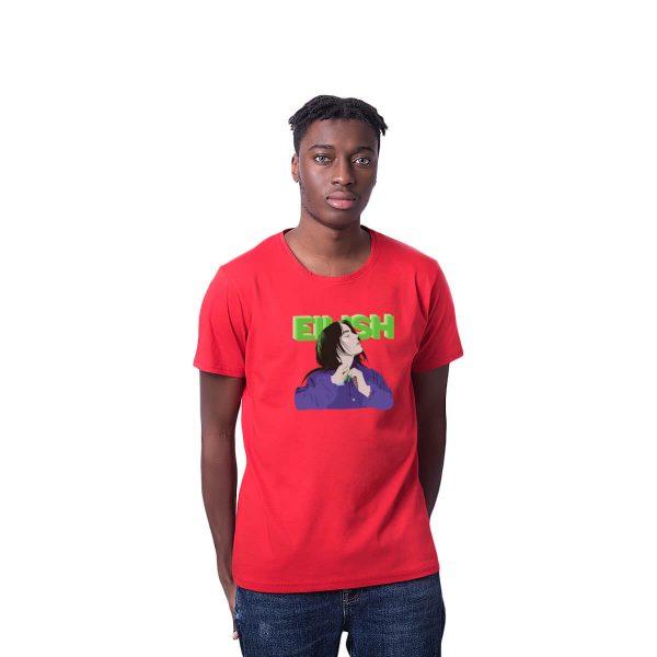 Eilish Baskılı Regular Unisex Tişört