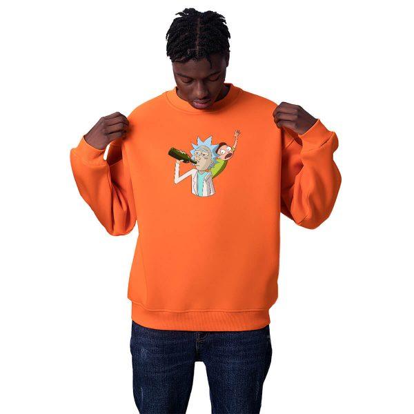 Evren Yolcuları Büyükbaba Baskılı Oversize Unisex Sweatshirt