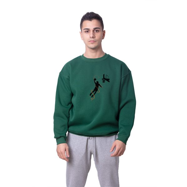 Kobe Bryant Smaç Baskılı Oversize Unisex Sweatshirt