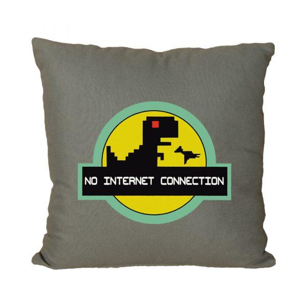 No Internet Connection El Yapımı Boncuk Silikon Dolgulu Kırlent Yastık
