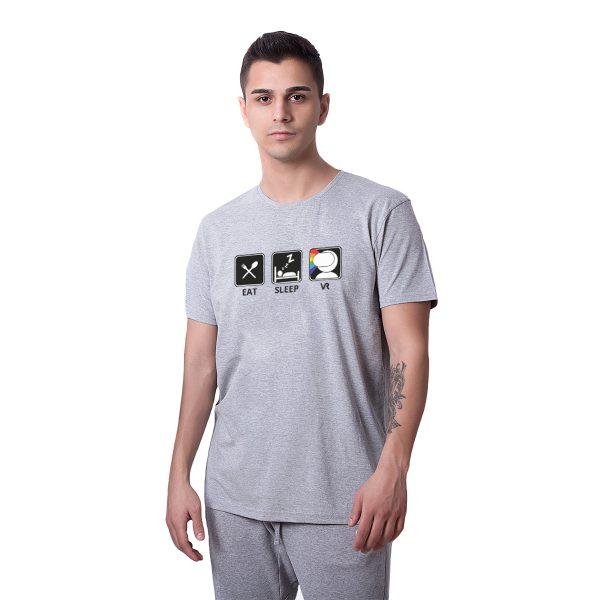 Revanche Eat Sleep VR Baskılı Regular Unisex Tişört