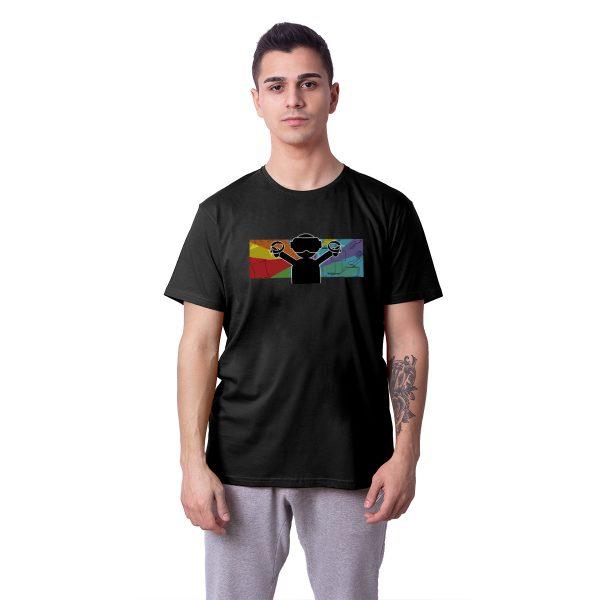 Revanche VR Dünyası Baskılı Regular Unisex Tişört